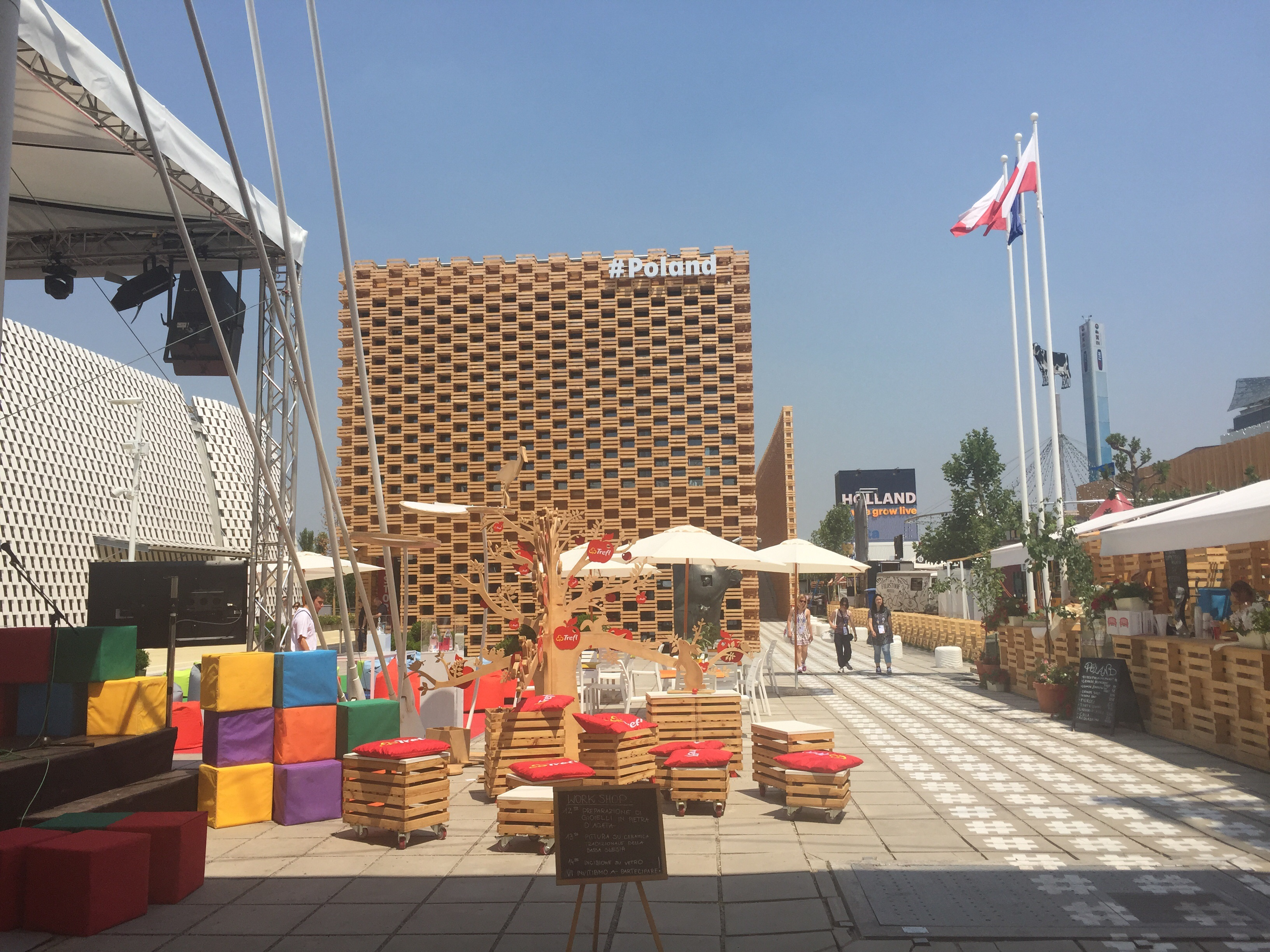 Poland's pavilion at the Expo Milan 2015.