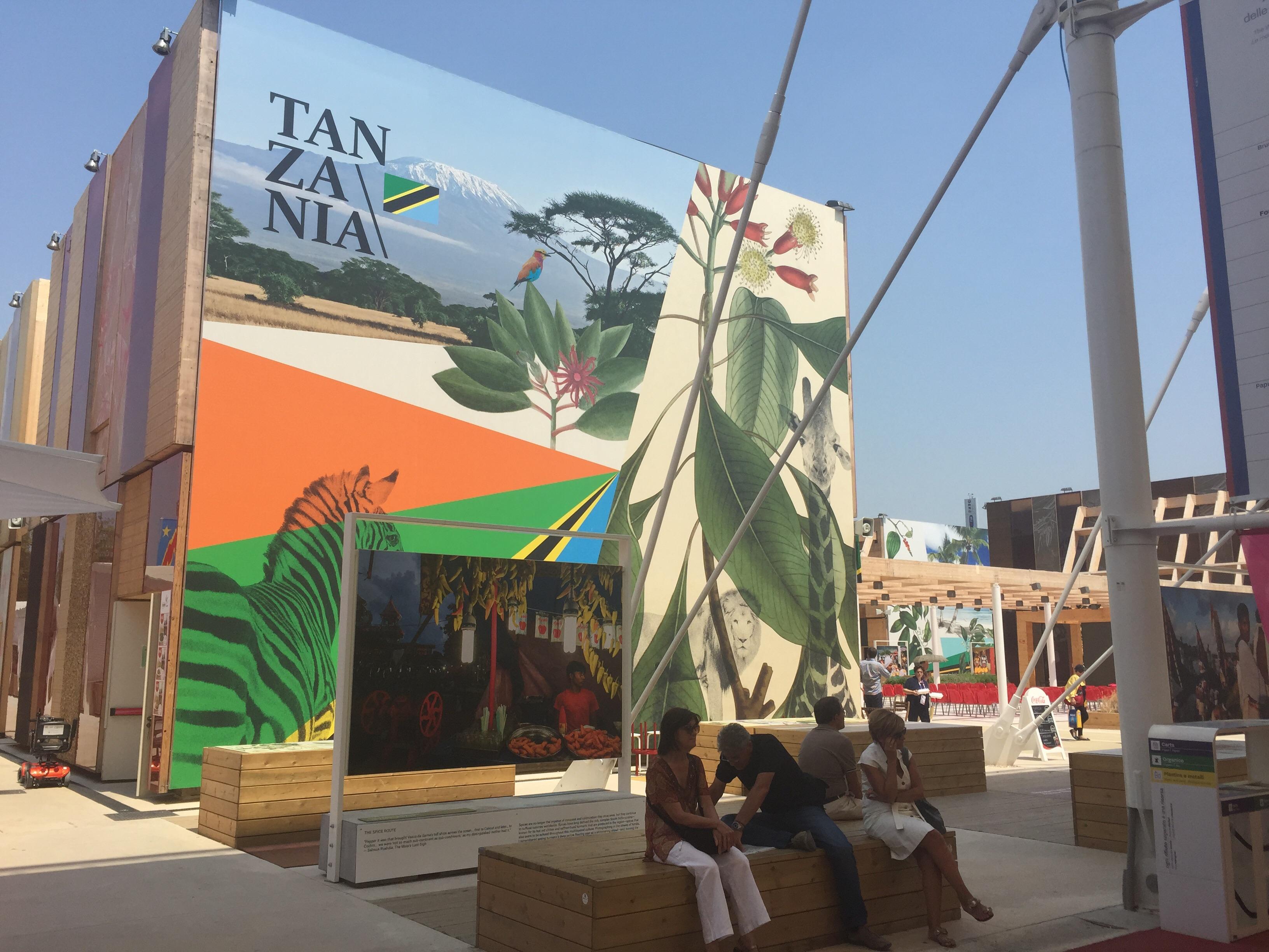 Tanzania's Pavilion at the Milan Expo.