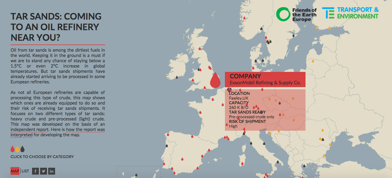 Two Thirds Of European Oil Refineries Ready For Tar Sands Imports