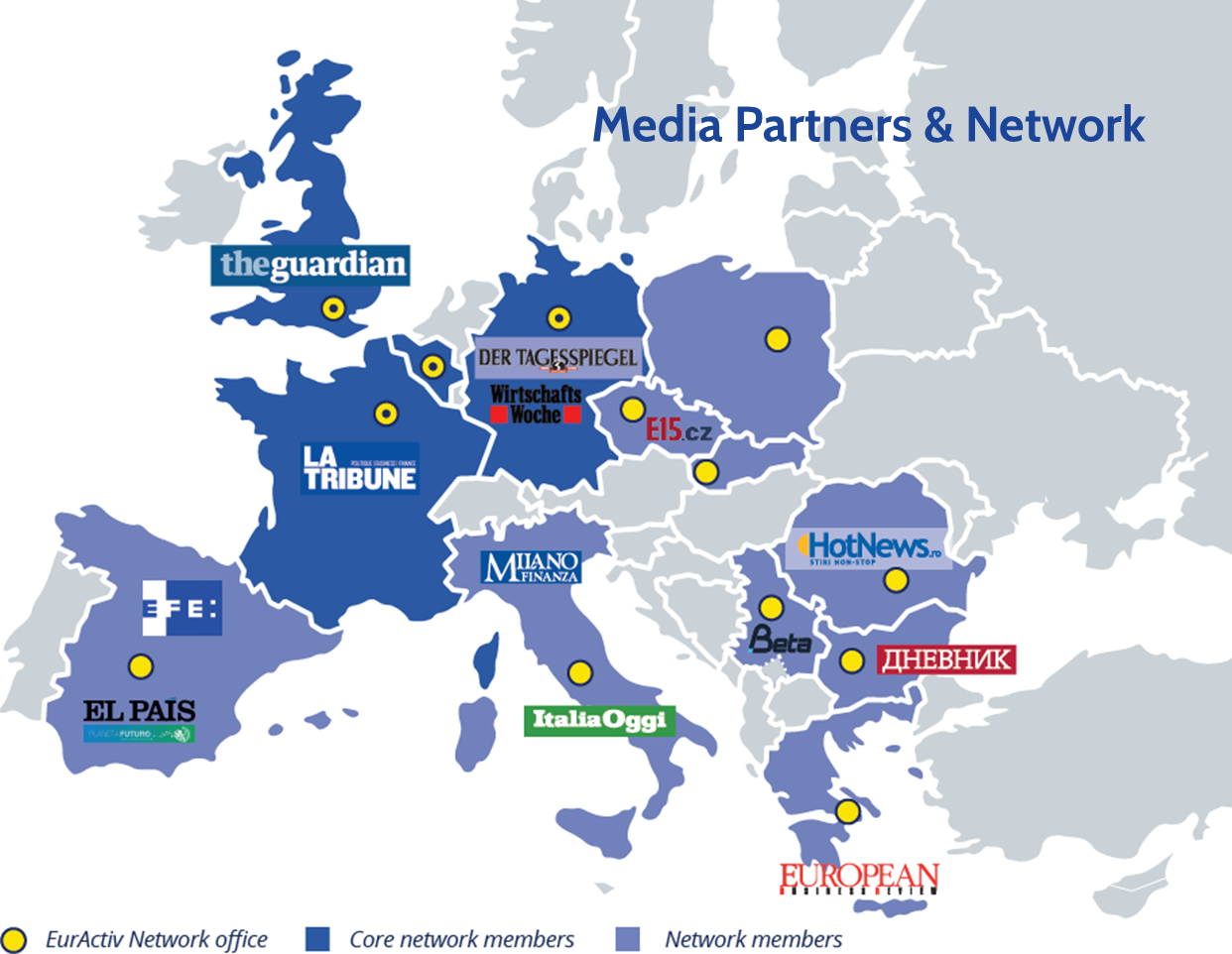 Network and Partners Map