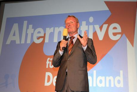 Hans-Olaf Henkel from Germany's Eurosceptic AfD. blu-news.org (CC BY-SA 2.0)