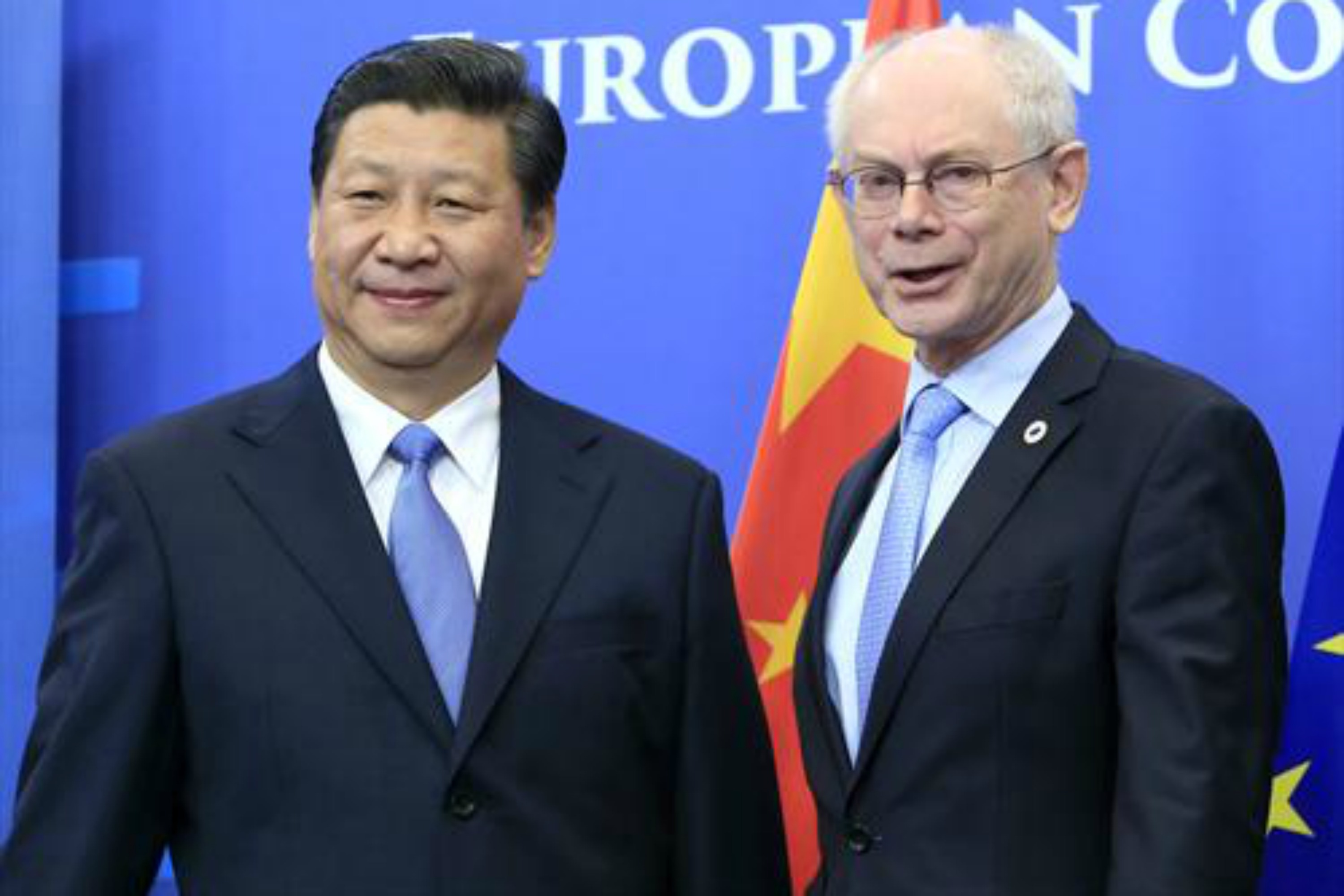 Xi Jinping and Herman Van Rompuy