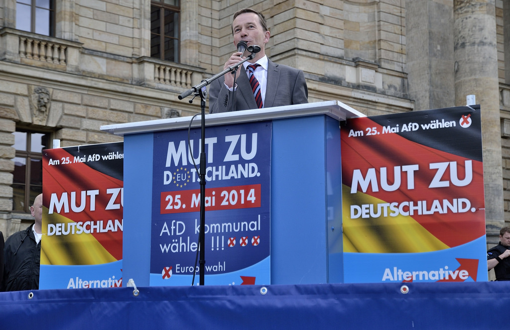 The Eurosceptic Alternative for Germany (AfD) won 7 seats in the European Parliament after European elections on 25 May. [Caruso Pinguin/Flickr]