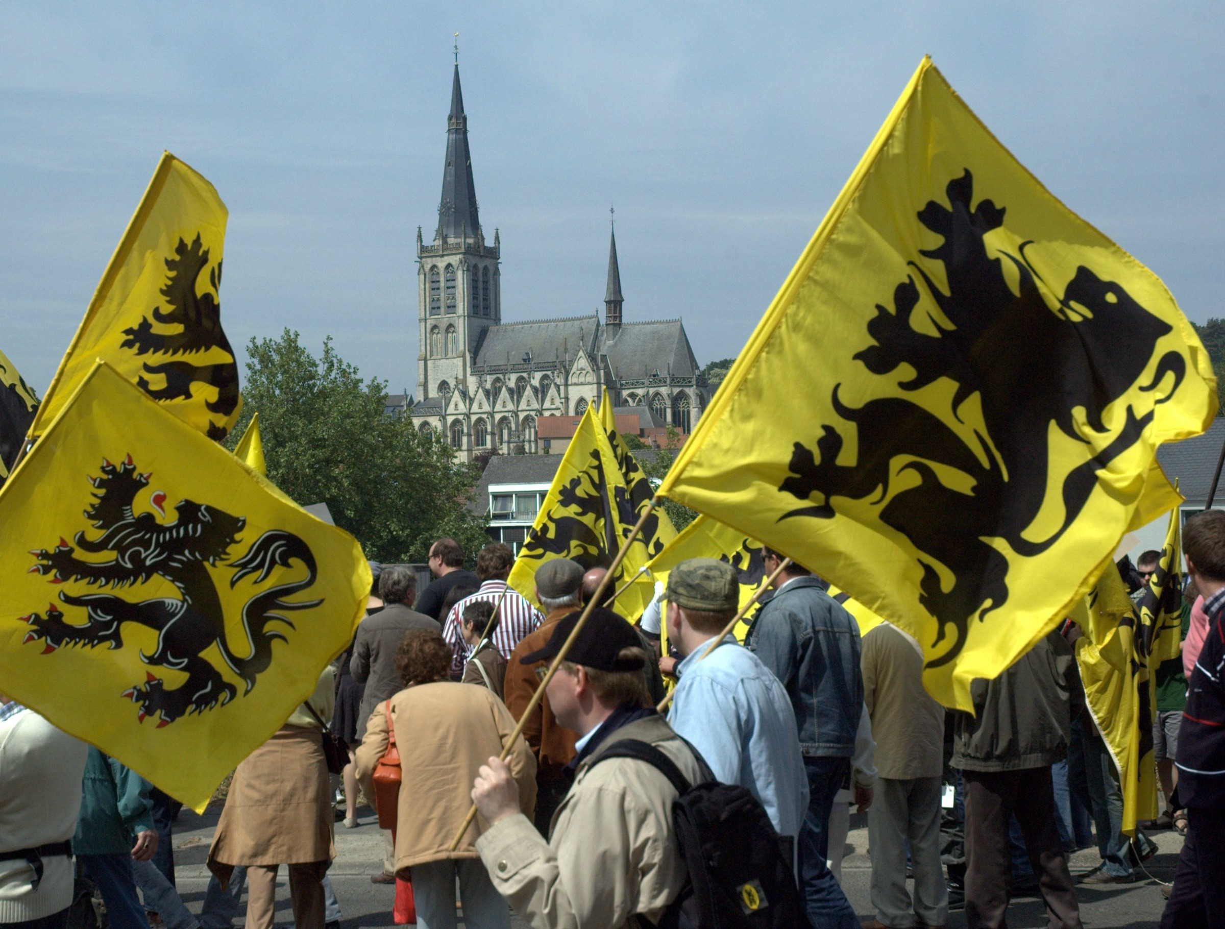 Flemish nationalist rally [Tijl Vercaemer/Flickr]