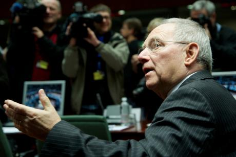 German Finance Minister Wolfgang Schäuble is alarmed at European election results in France and the victory of the right-wing populist Front National. [The Council of the European Union]