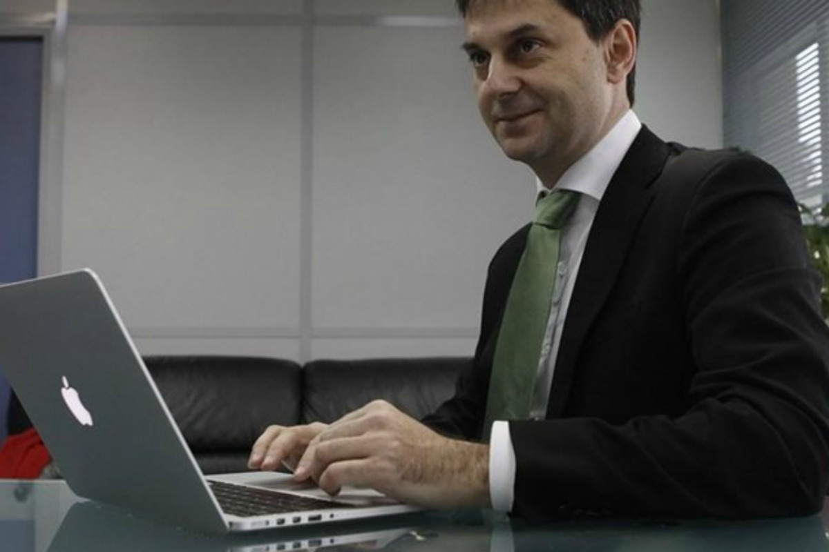 Charis Theocharis, Greece's former highest official in charge of public revenues [Photo: Theocharis's office]]