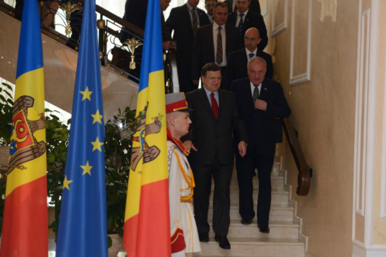 José Manuel Barroso and Nicolae Timofti, President of Moldova