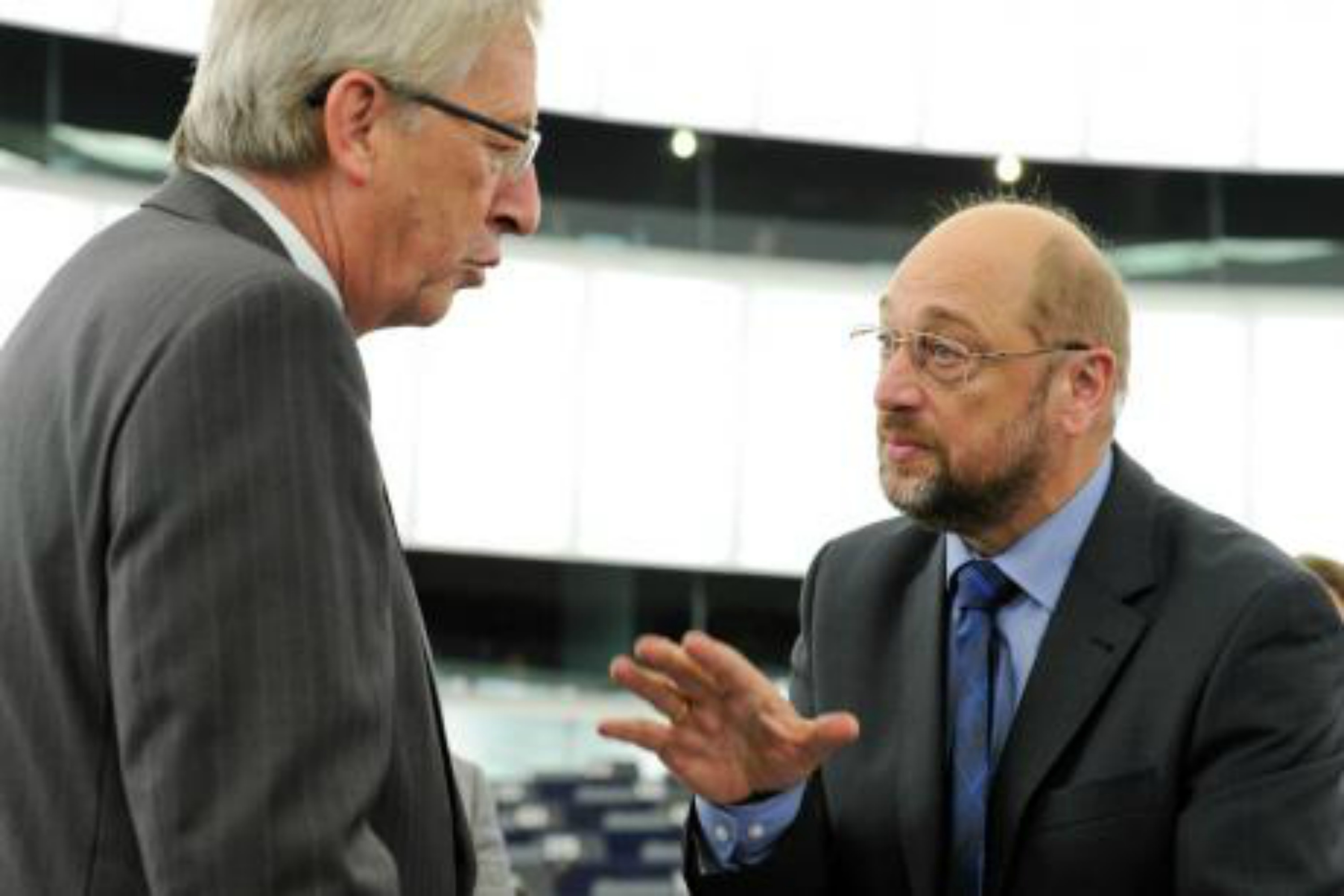 Jean-Claude Juncker and Martin Schulz. Photo European Parliament