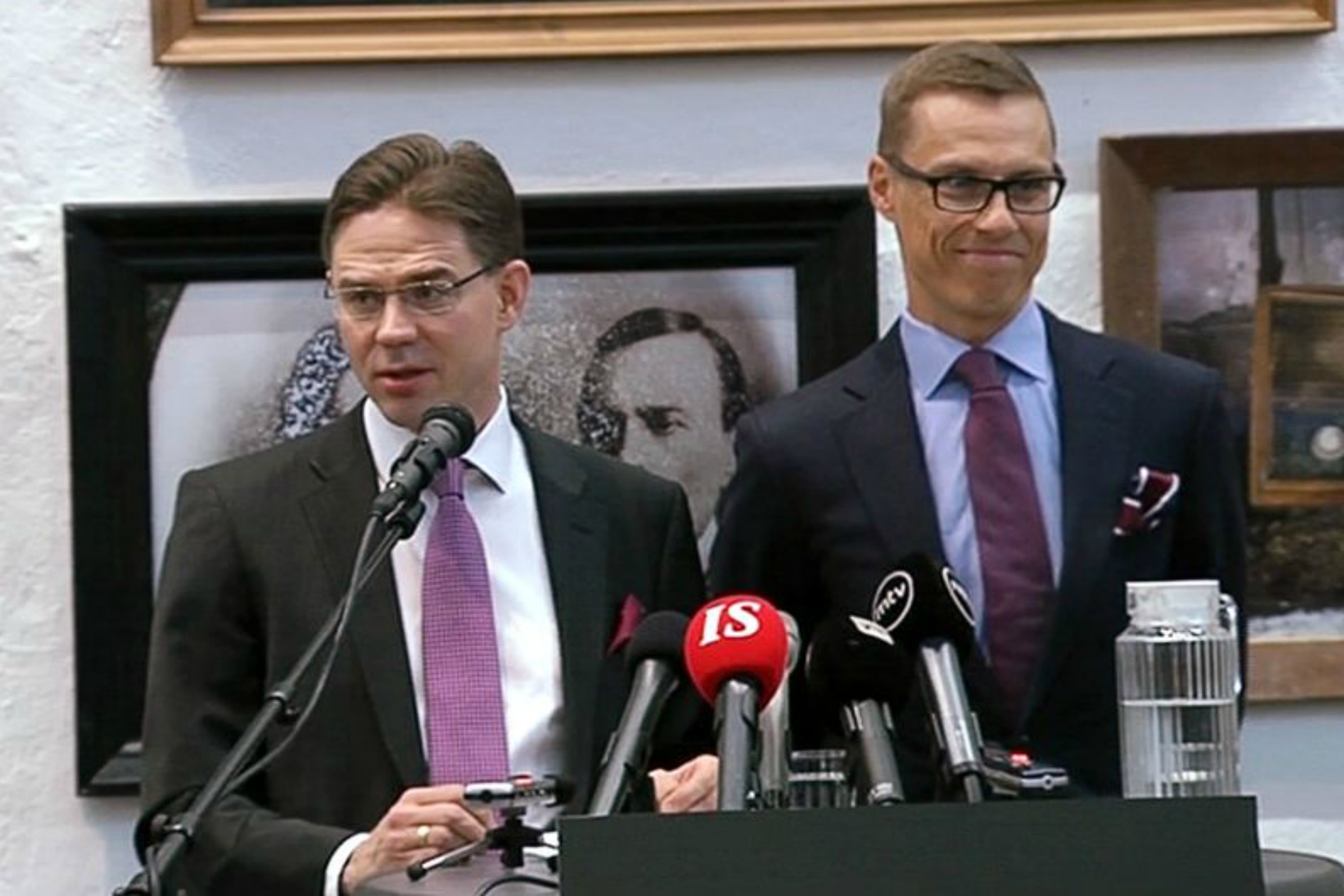 Jyrki Katainen [L] and Alexander Stubb. Photo Yle