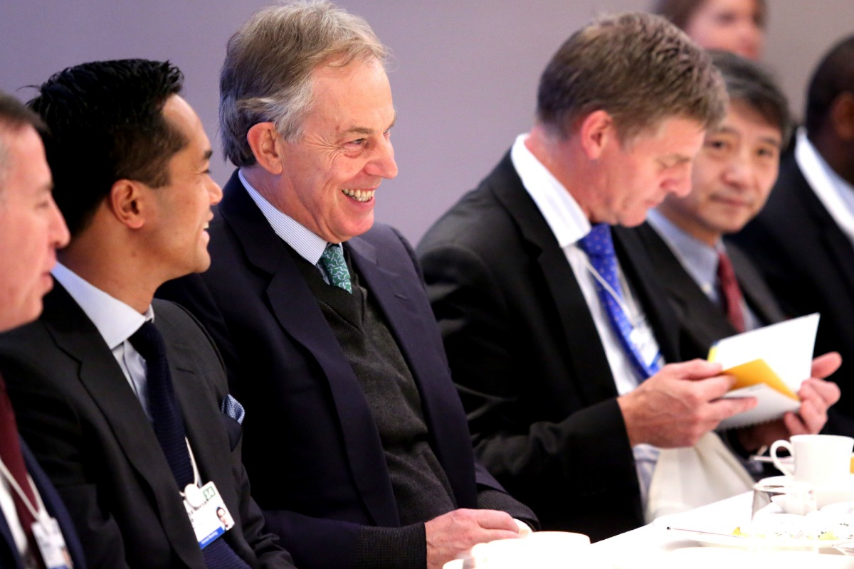Business Leaders breakfast hosted by Tony Blair and Marc Holtzman- Davos, 22 January 2014 [Photo: Paul Kagame's Flickr photo stream] ]