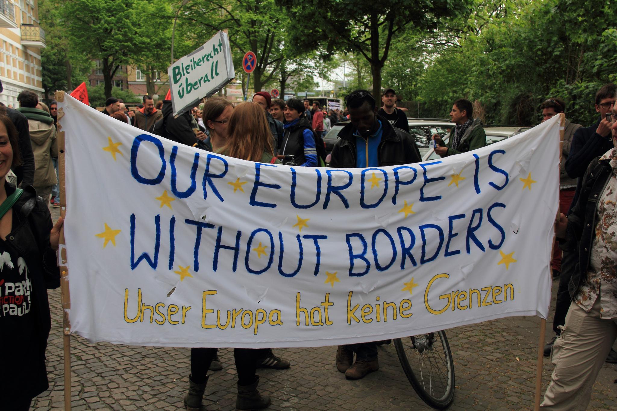 Refugee welcome centre in Hamburg, Germany. May 2014 [Rasande Tyskar/Flickr]