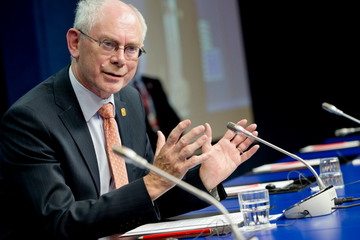 Herman Van Rompuy, President of the European Council, at the press conference following the EU summit in Brussels, 16 July 2014 [Photo: The Council of the European Union]