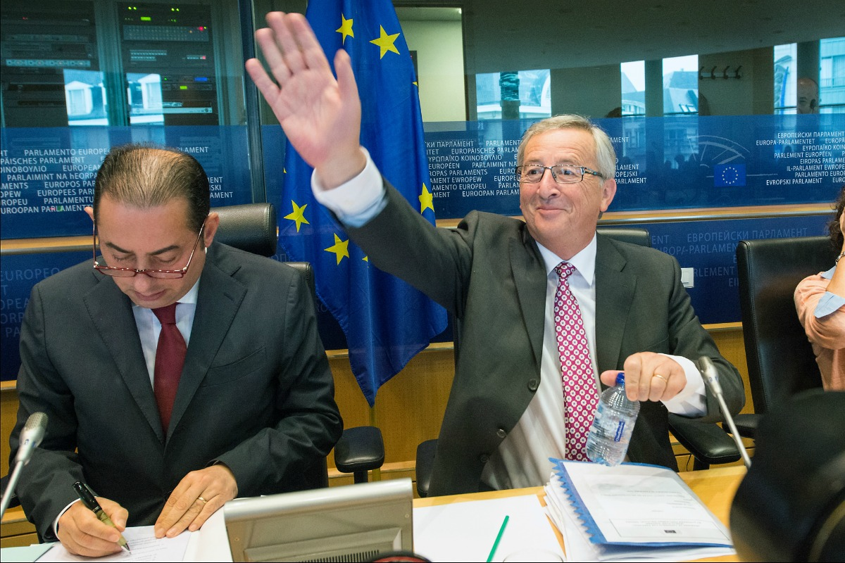 Jean-Claude Juncker in the European Parliament in Brussels, 8 July 2014 [© European Union 2014 - European Parliament]