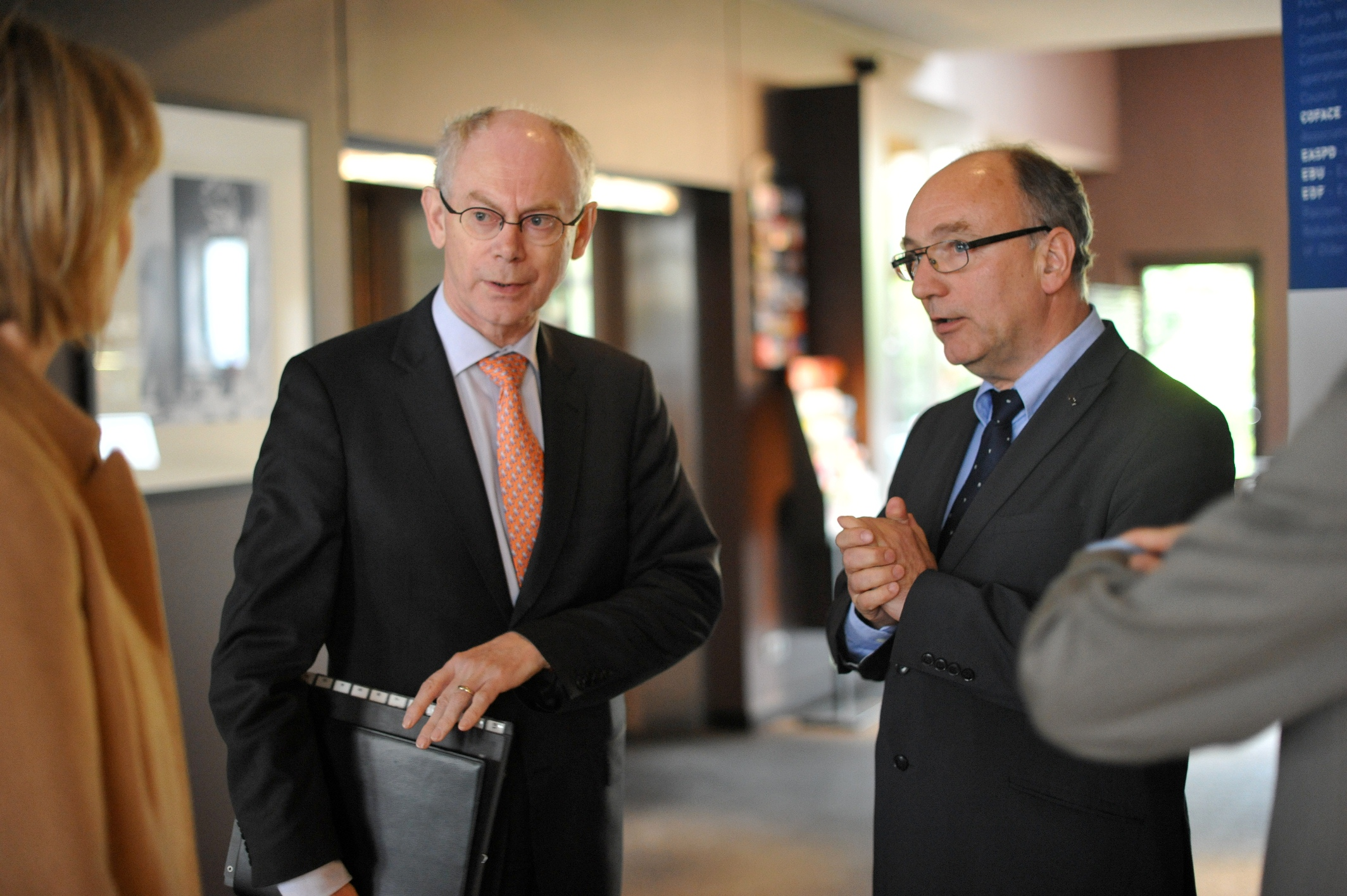 Herman Van Rompuy, European Council president, with Conny Reuter of SOLIDAR [April 2012; Social Platform/Flickr]