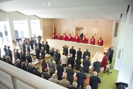 The German Constitutional Court in Karlsruhe, Germany. [Mehr Demokratie]