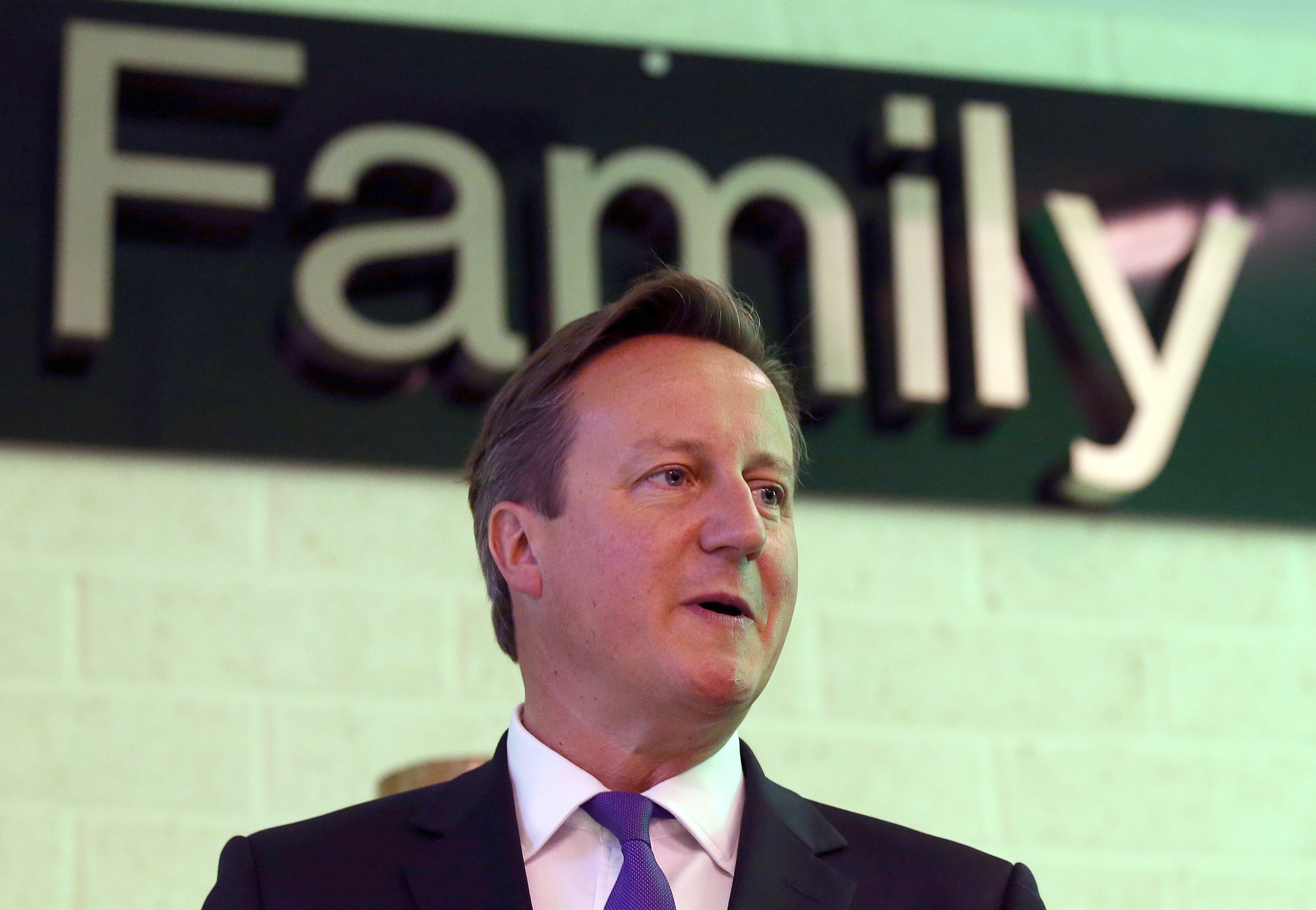 David Cameron speaks during a visit to Edinburgh, 10 September [Reuters]