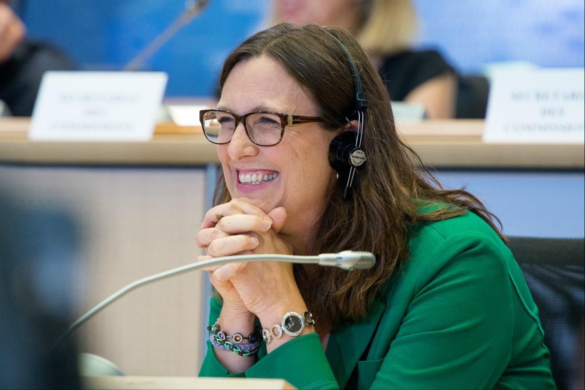 Cecilia Malmström, Commissioner-deisgnate for trade, at the European Parliament hearing [Photo: European Parliament / Flickr]