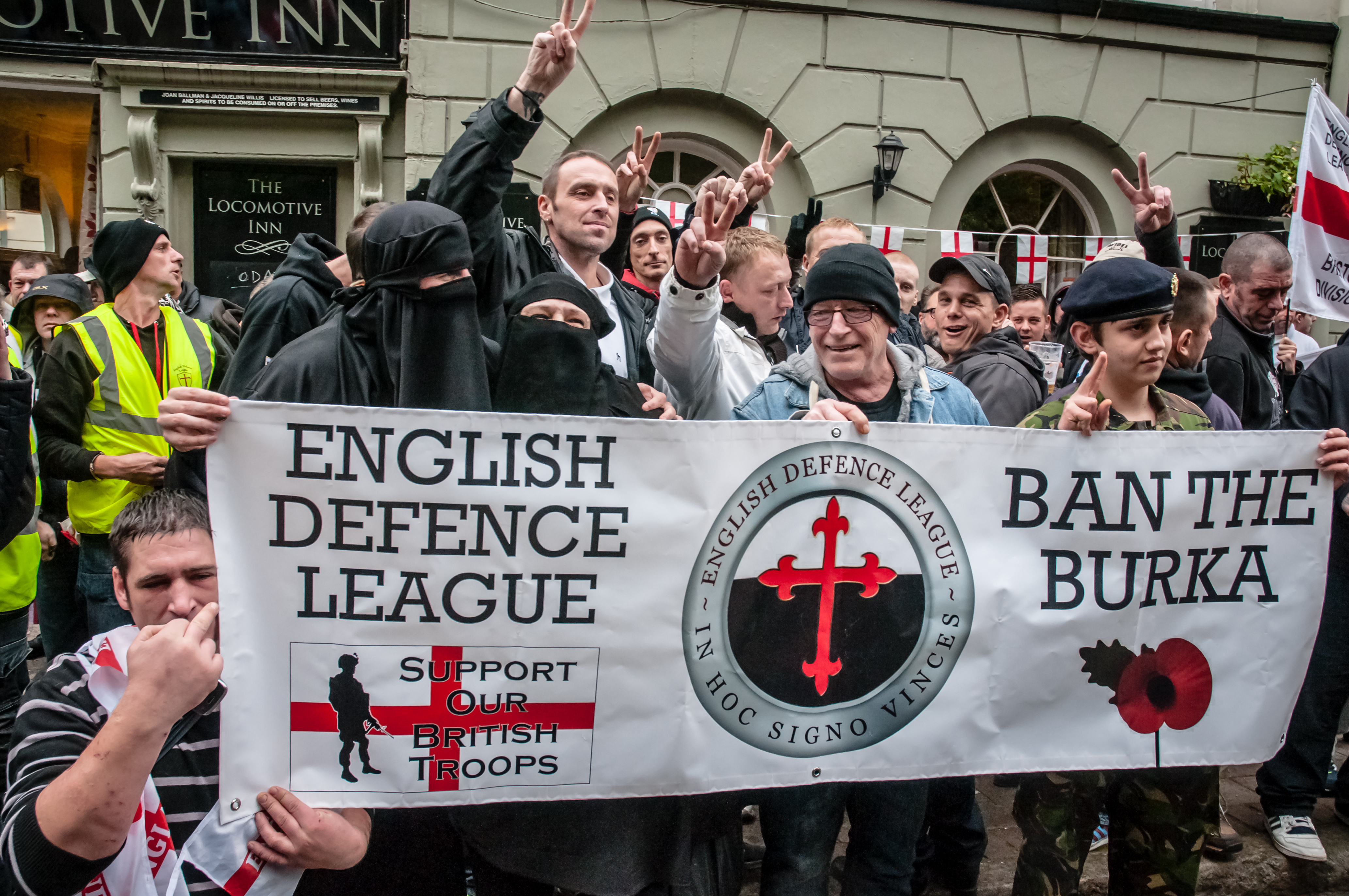 The English Defence League in a rally against islam [Clive Chilvers/Shutterstock]