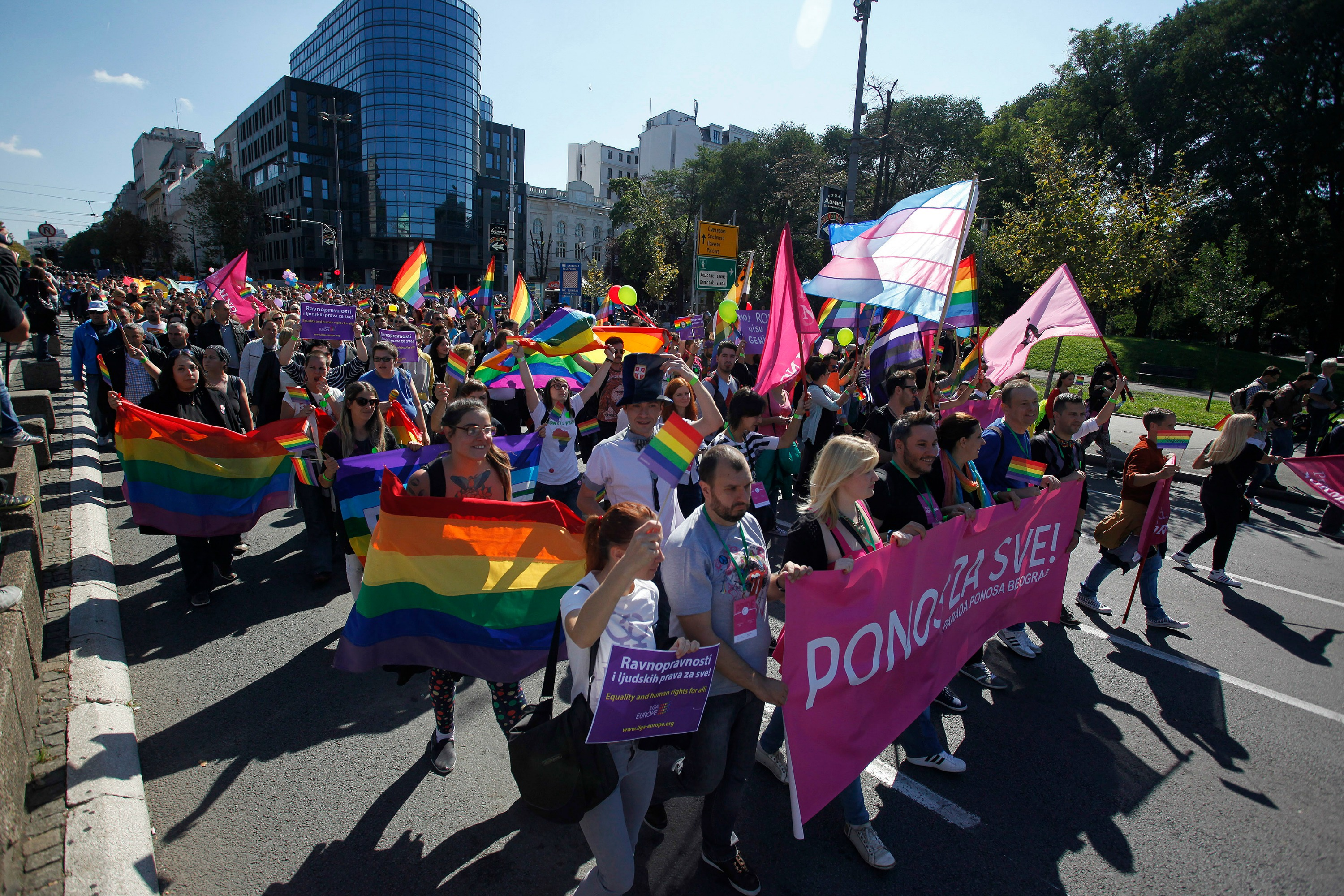 Gay pride in Belgrade 28 September 2014 [Reuters]