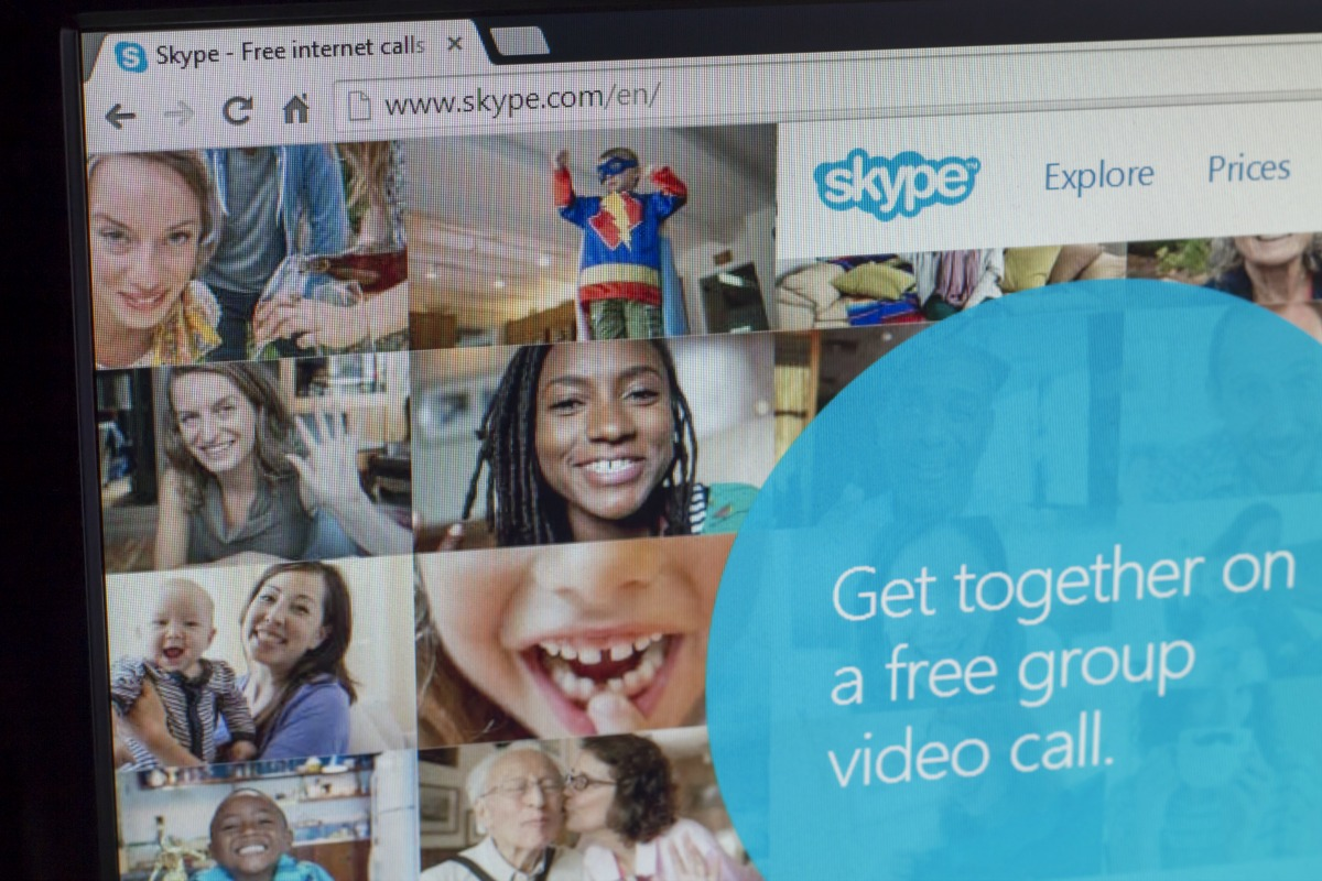 The Skype homepage [Shutterstock]