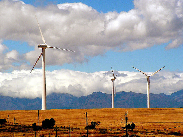 wind turbine in South Africa