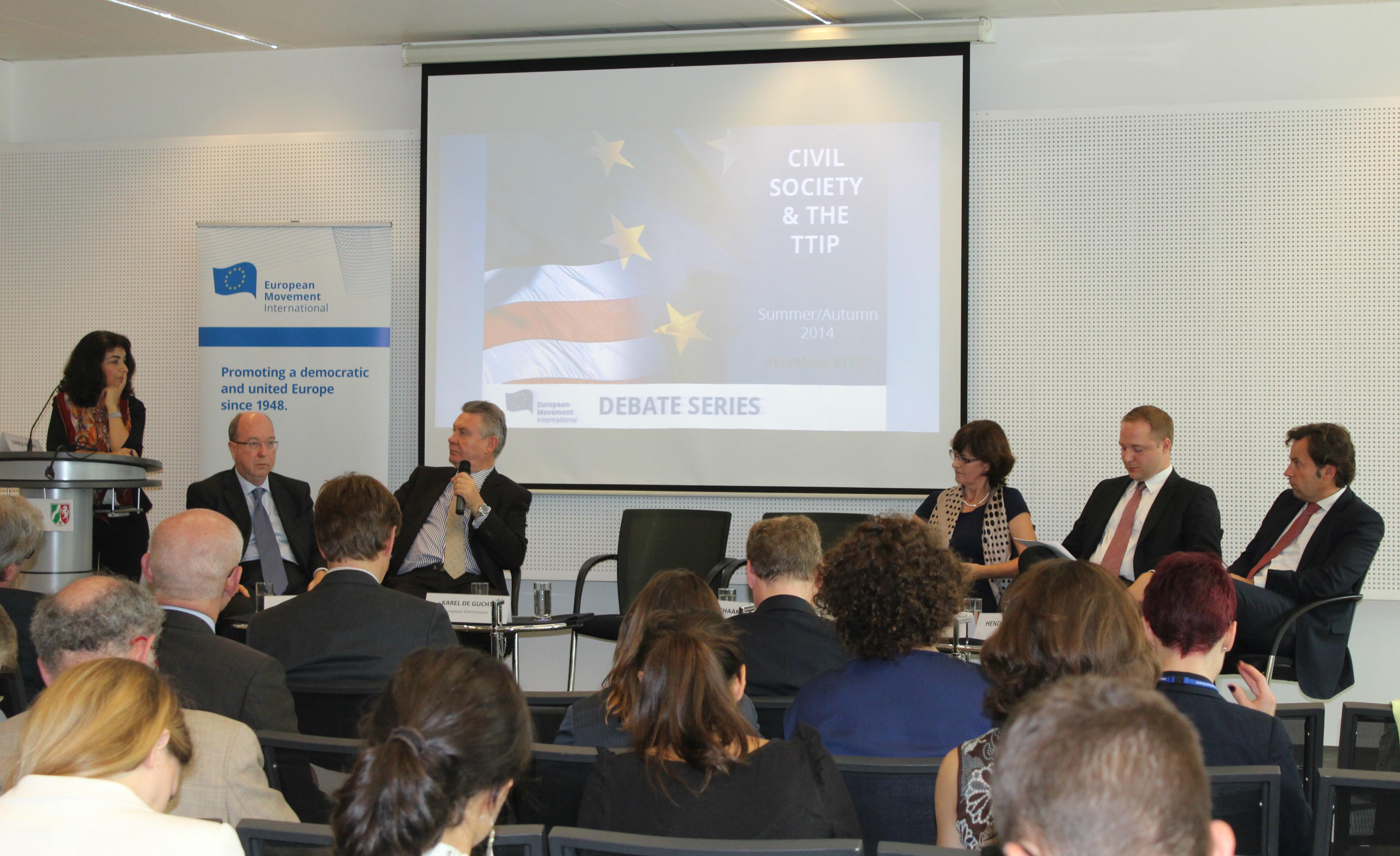 Karel De Gucht at the EMI TTIP Summit .Brussels, October 2014.