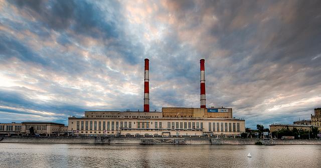 Infrastructures de Gazprom à Moscou. Le monopole de entreprise russe a pousse l'UE à augmenter son indépendance énergétique.