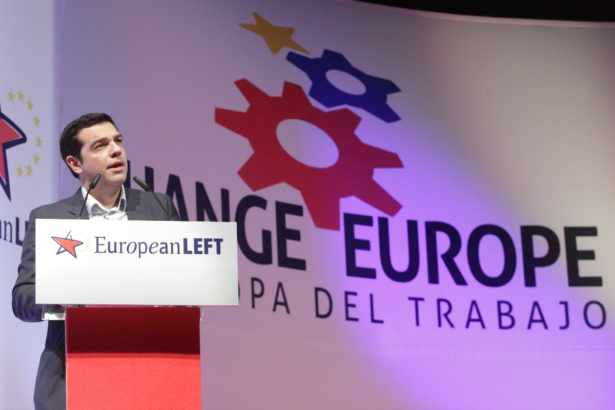 Alexis Tsirpas at the 4th European Left Congress, 13-15 December 2013