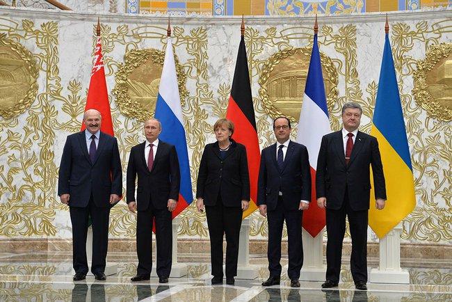 Les dirigeants européens avec le président Lukashenko, le 12 février à Minsk [Photo Kremlin]