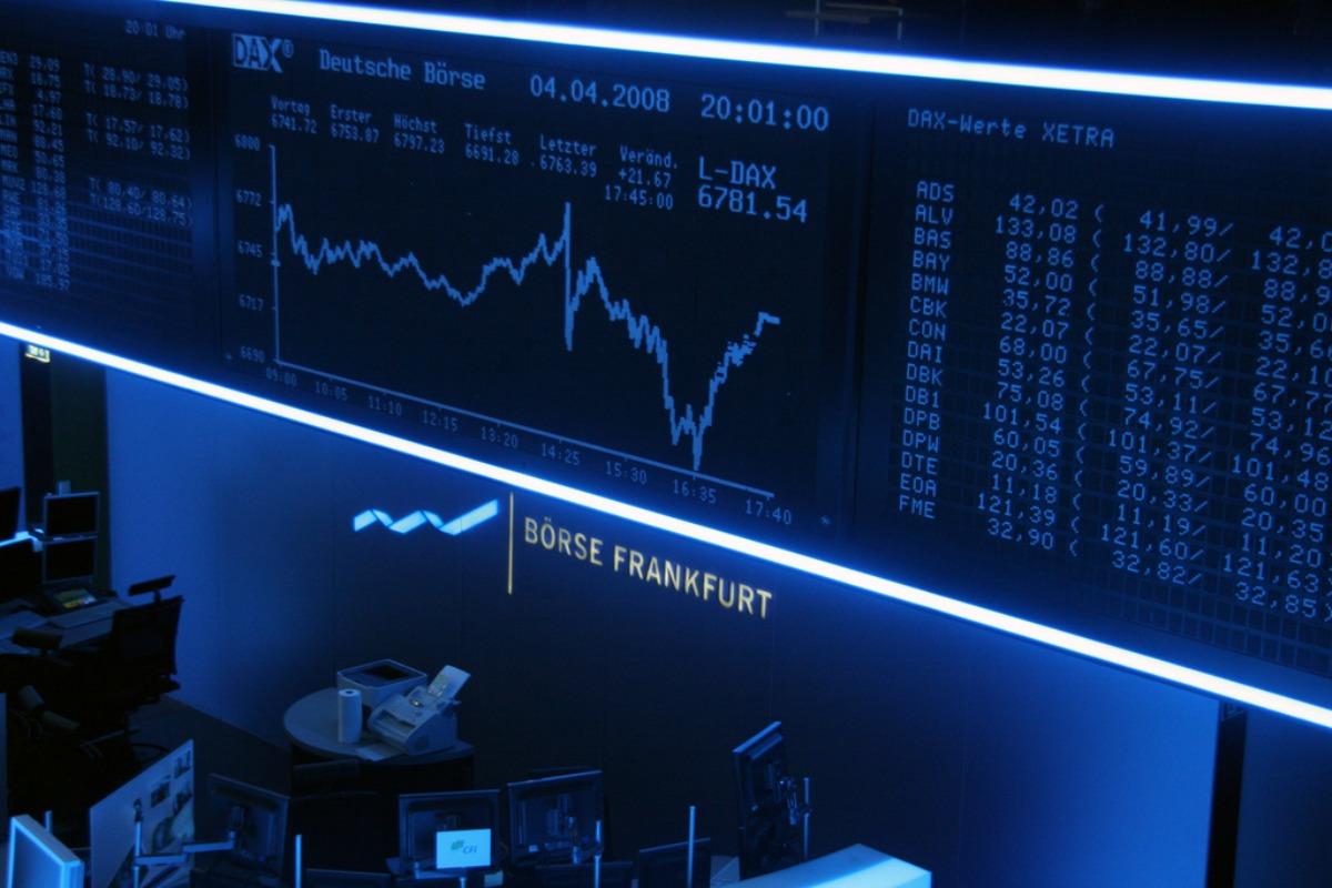 Trading floor of Frankfurt's stock exchange