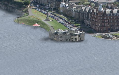 Flooding in St Andrews, Scotland