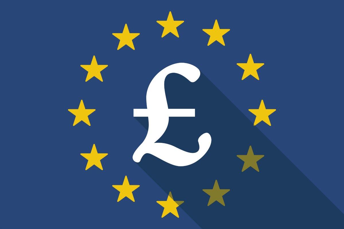 EU flag with pound sign
