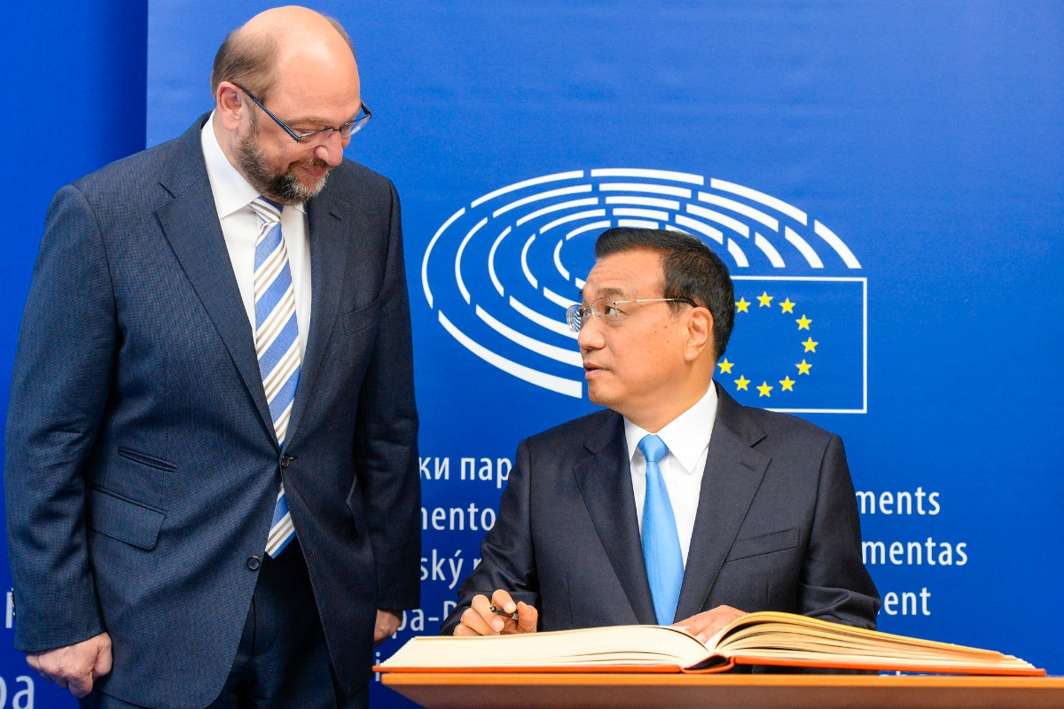 Martin Schulz and Li Keqiang