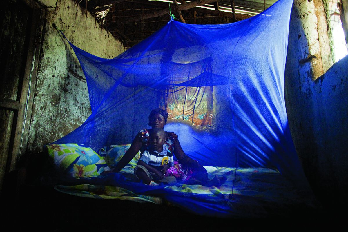 Bed nets combat the spread of malaria