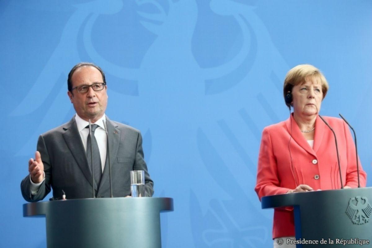 Hollande and Merkel