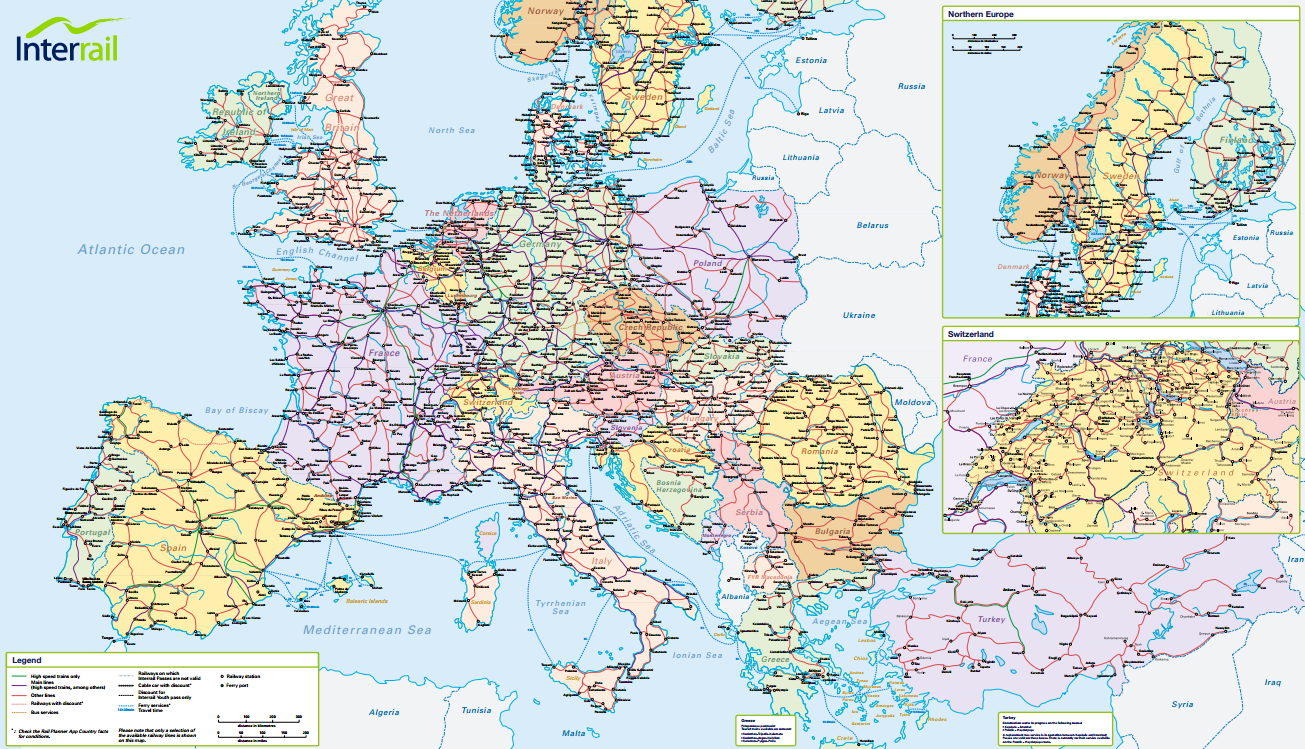 2015 Map Of Europe.Every Young European Should Get A 1 Month Interrail Pass For Free