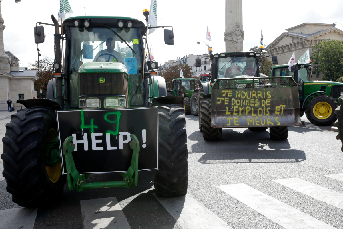 French farmer protest