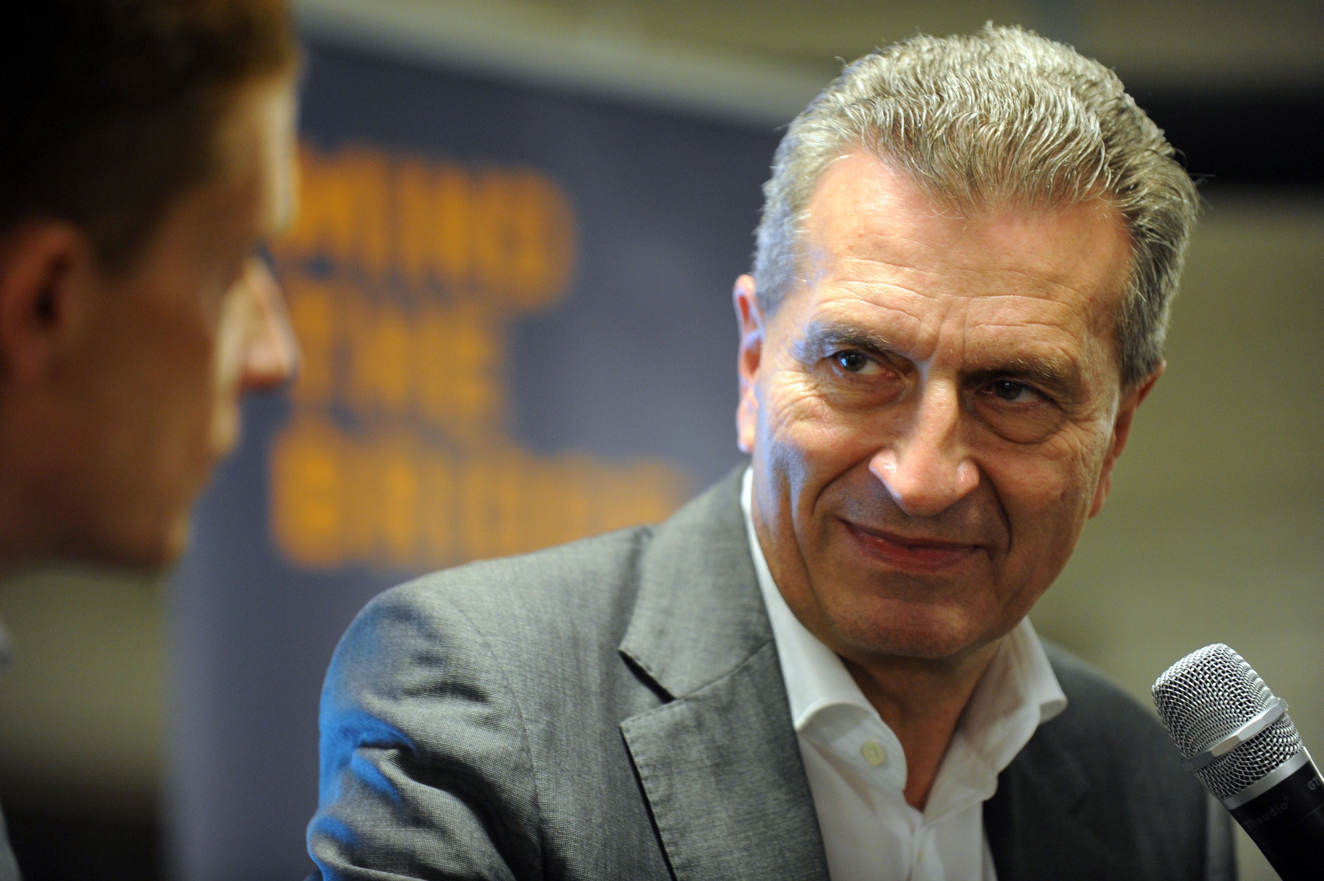 Digital Commissioner Günther Oettinger during a visit to Silicon Valley this week