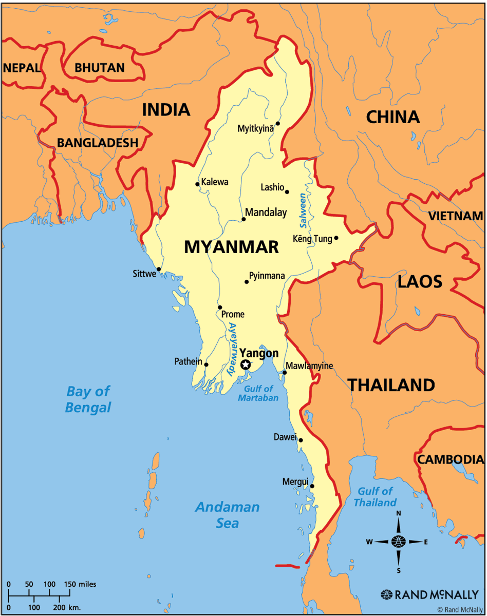 Burma Political Map.Myanmar Signs Limited Truce With Rebels But Fighting Persists