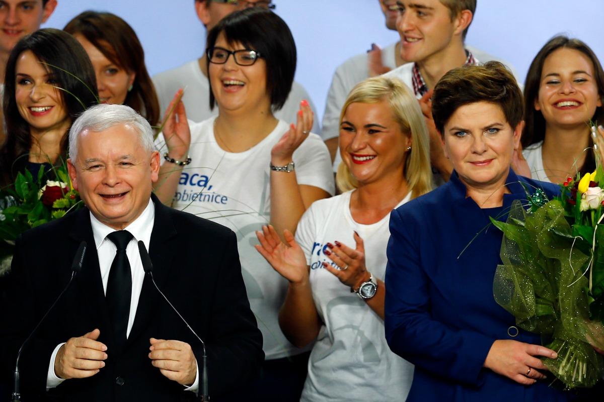 Jaroslaw Kaczynski and Beata Szydlo
