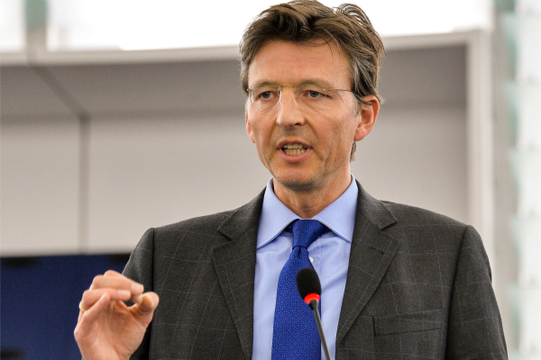Dutch MEP Gerben-Jan Gerbrandy (ALDE) during a plenary debate on emissions this week