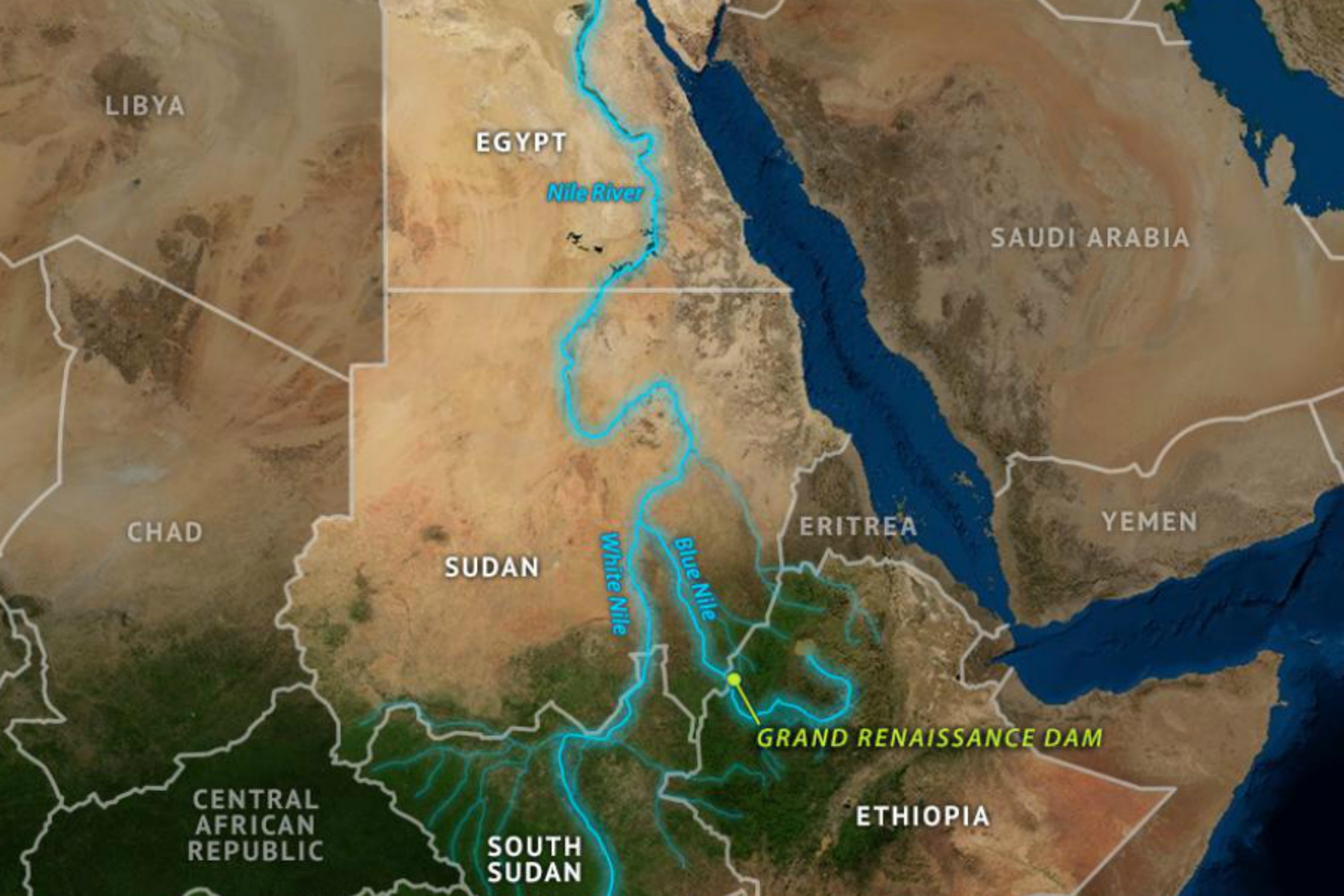 Ethiopia Makes Progress On The Nile Dam Project EURACTIVcom - Map of egypt showing nile river