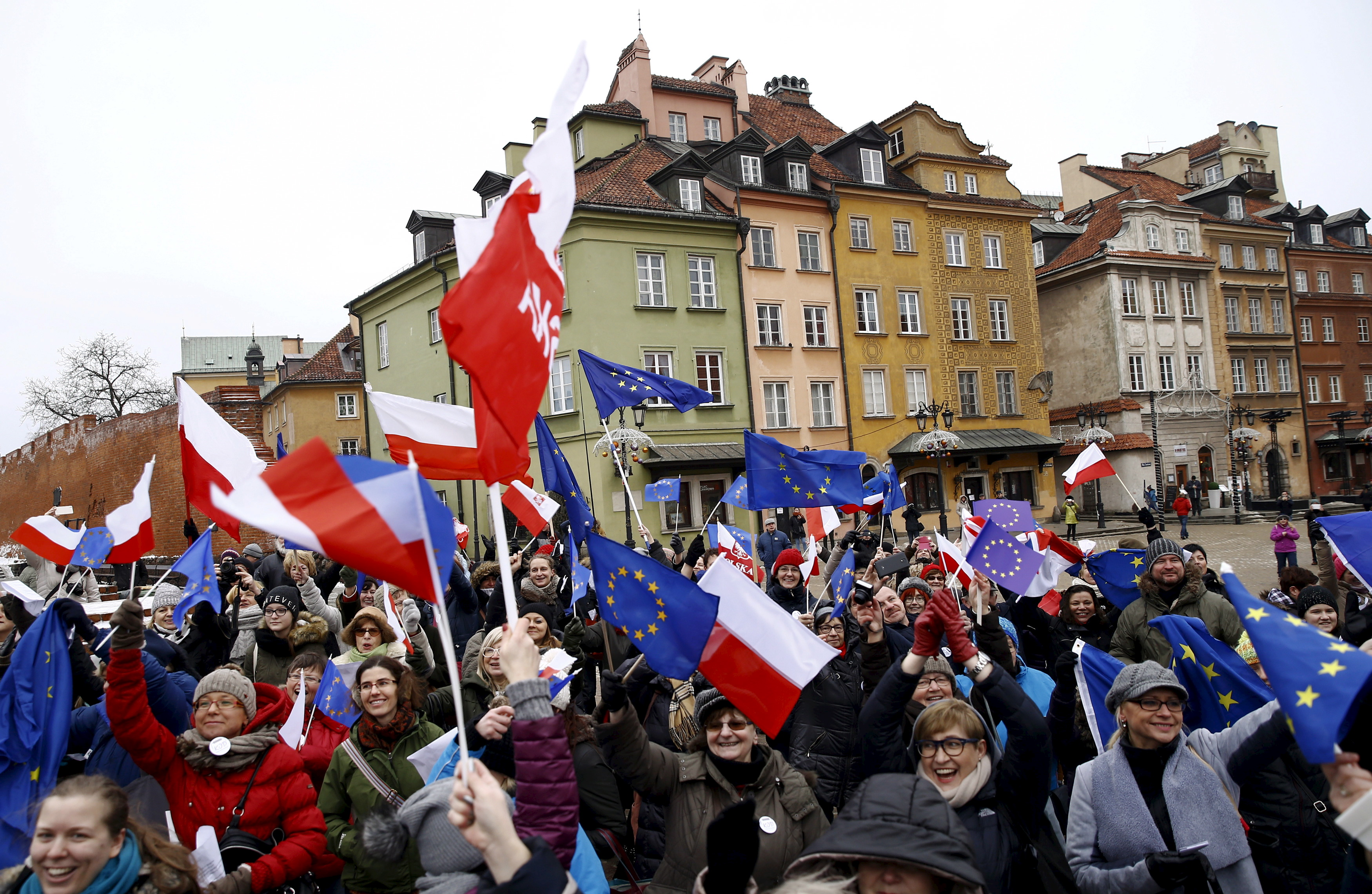 Image result for polish and eu flag