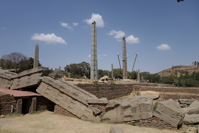 The mysterious Obelisk tombs of Axum - a UNESCO World Heritage Site.