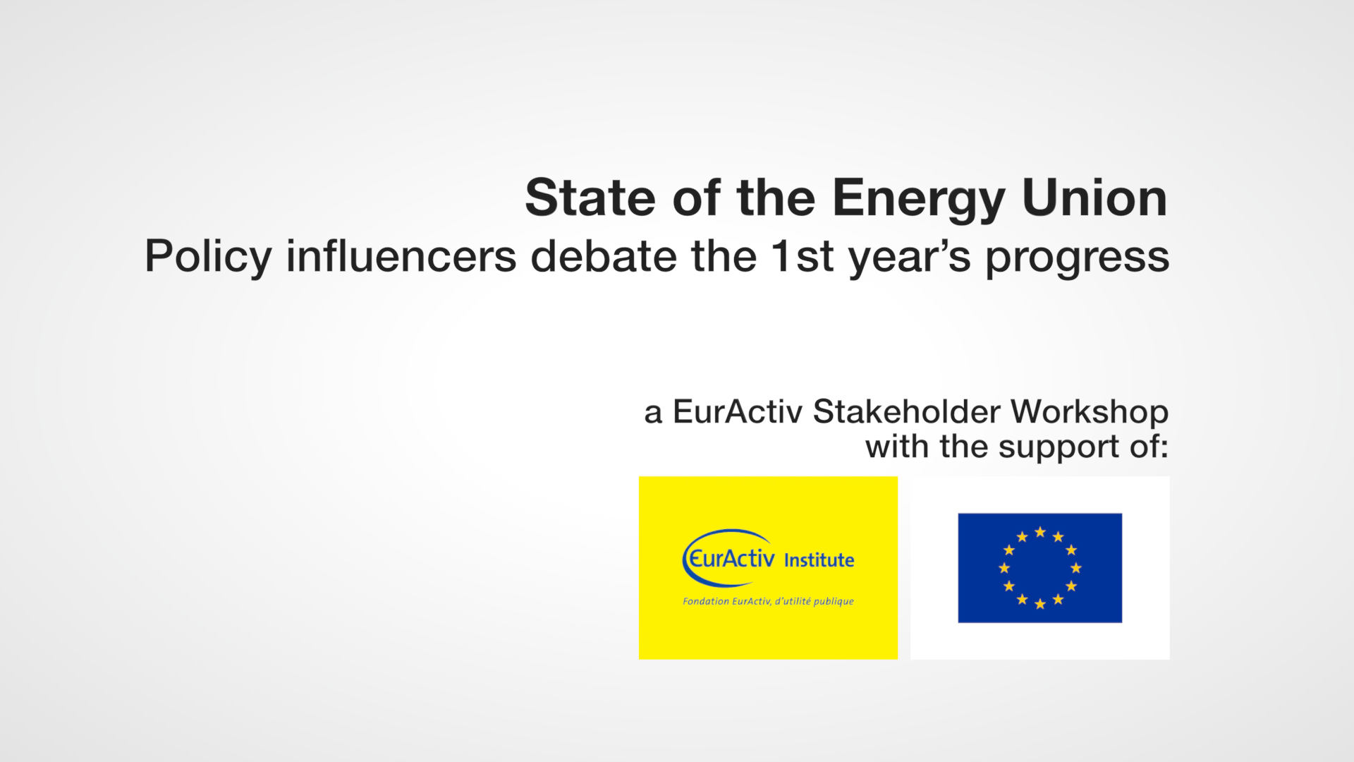 State of the Energy Union, one year on