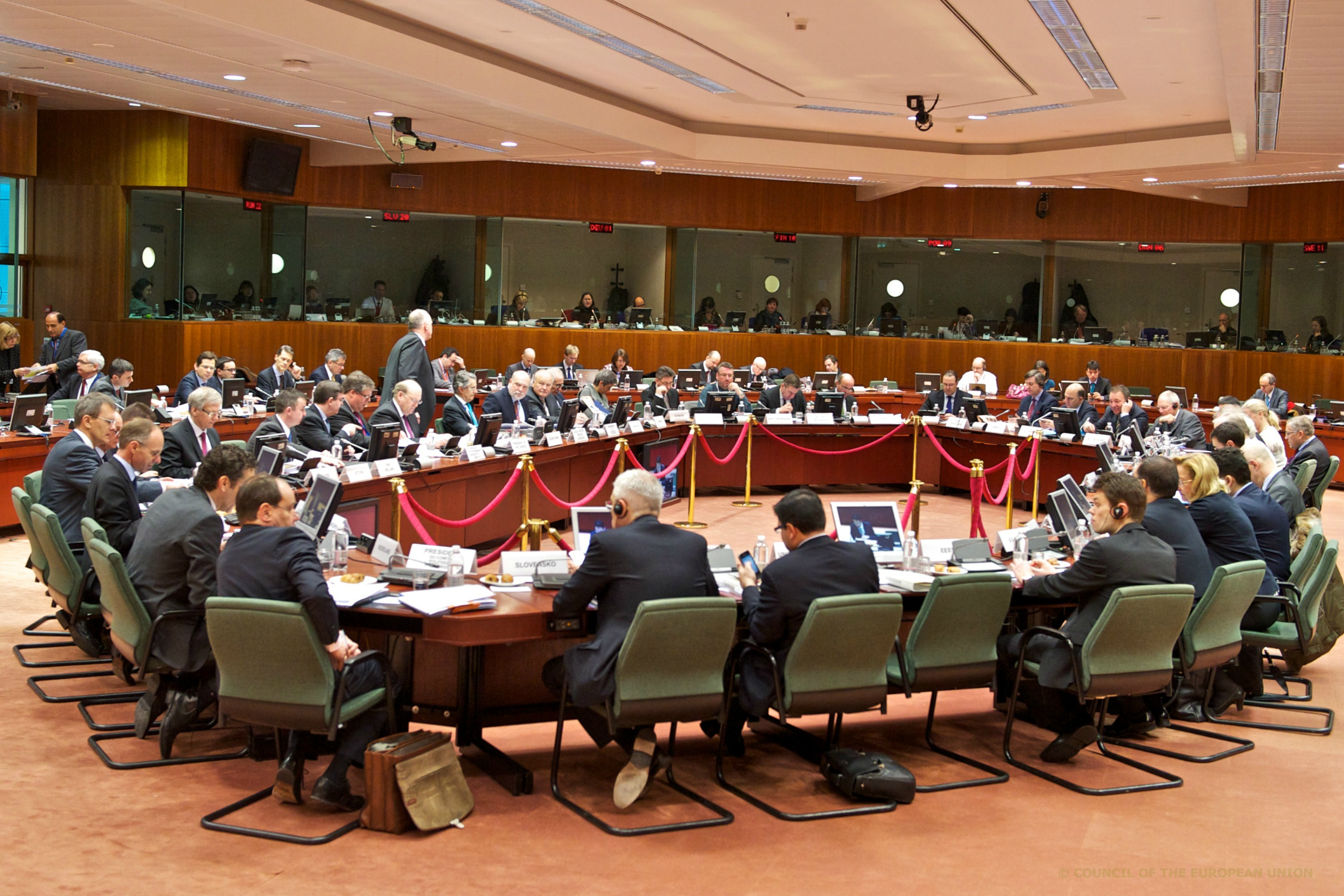 EU Council table