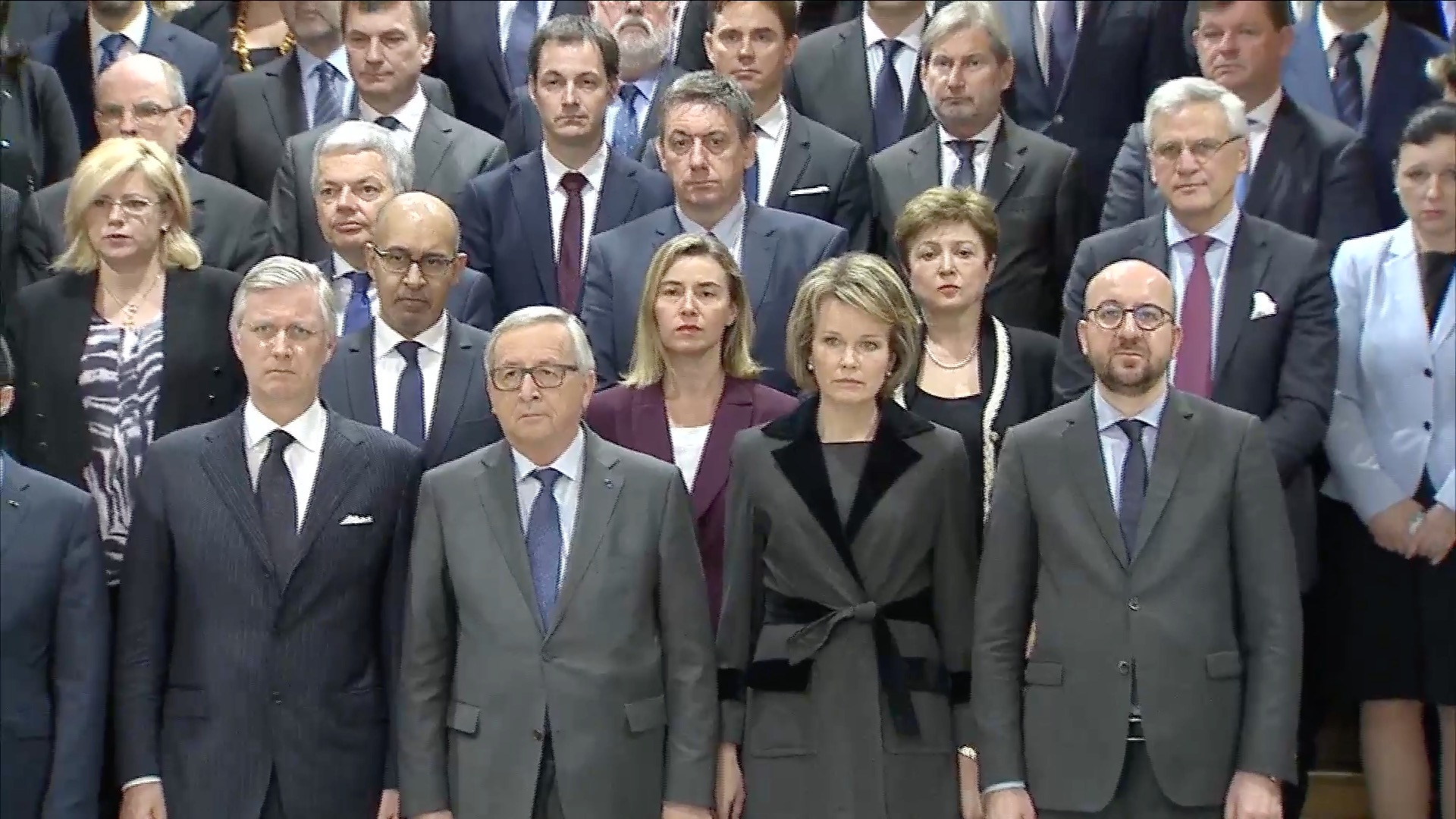 Minute of silenece for victims of Brussels attacks
