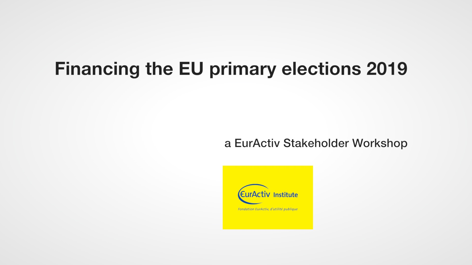 EU Primary elections 2019