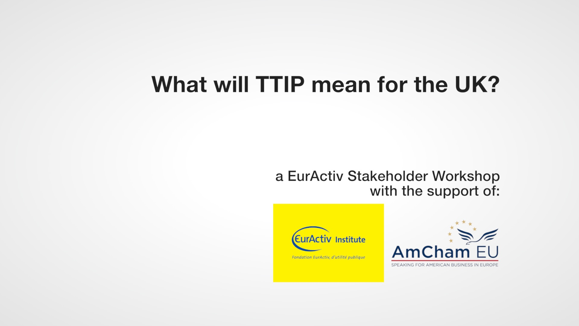 What will TTIP mean for the UK?