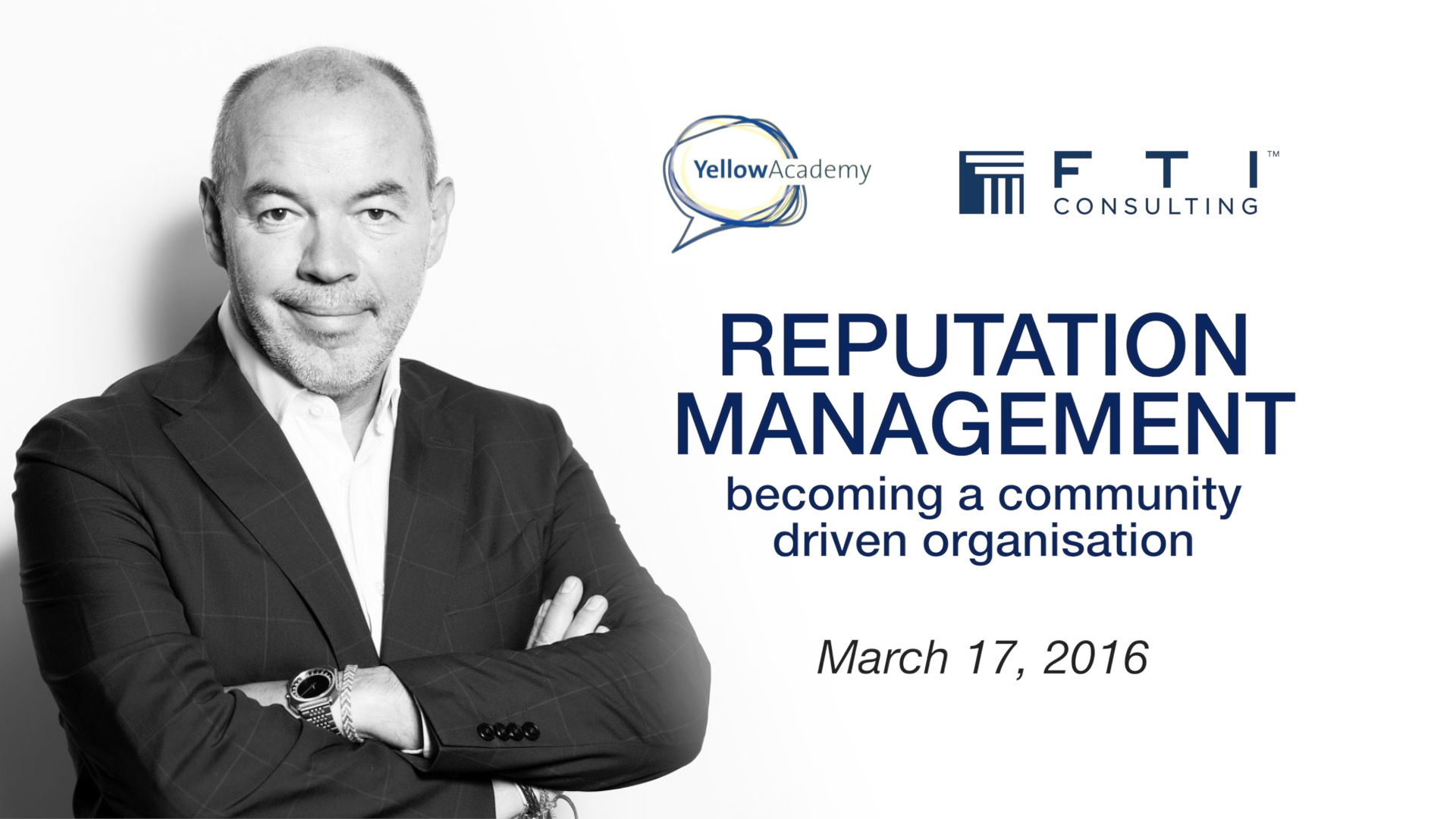 Reputation management: becoming a community driven organisation
